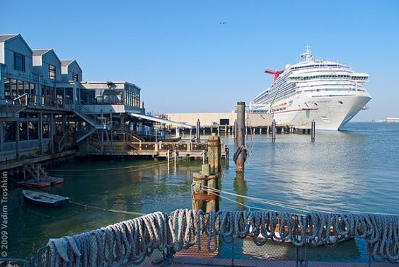 Carnival Cruise Ship In Port At Pier 25 Strand Historic District